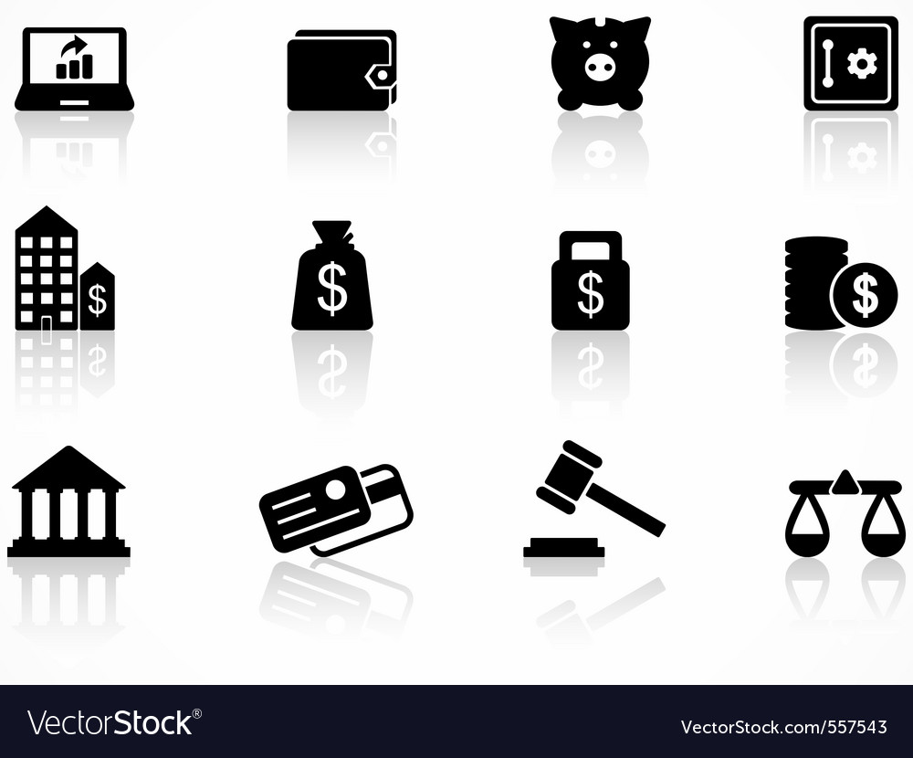 Finance icons set vector | Price: 1 Credit (USD $1)