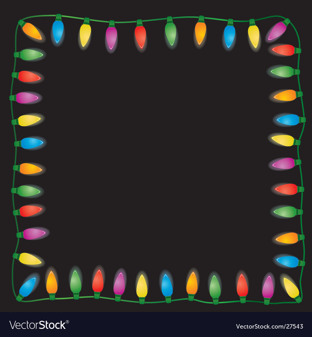 Holiday light on black background vector | Price: 1 Credit (USD $1)