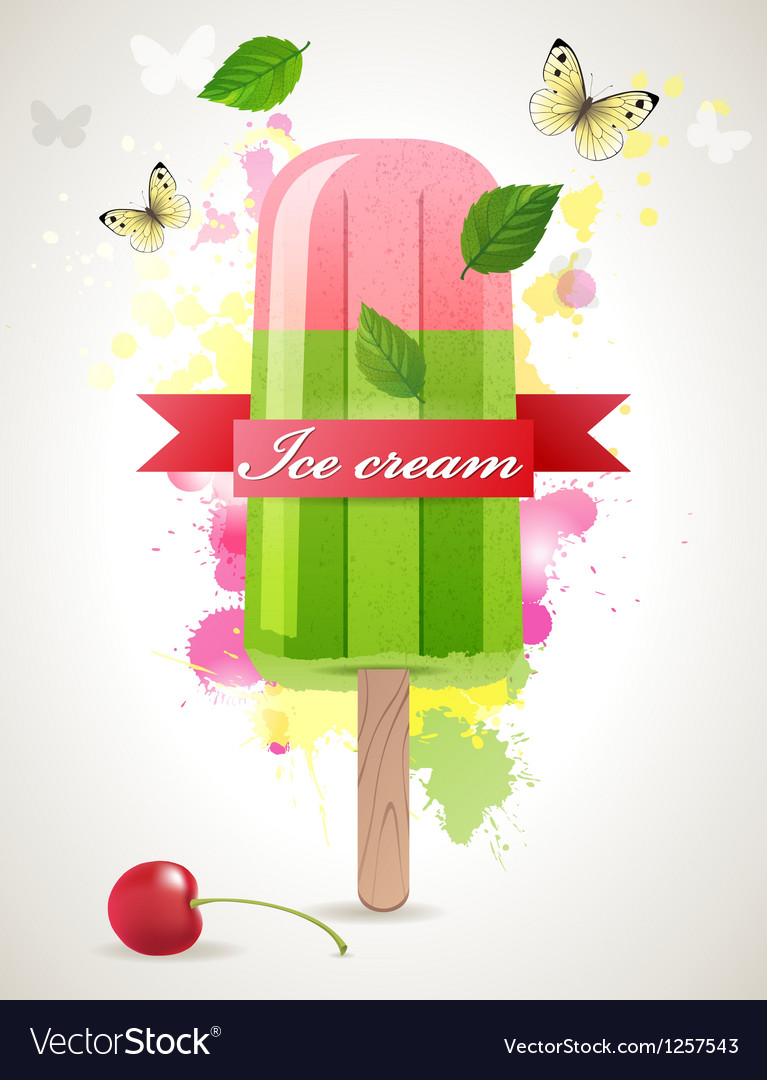 Ice lolly background vector | Price: 3 Credit (USD $3)