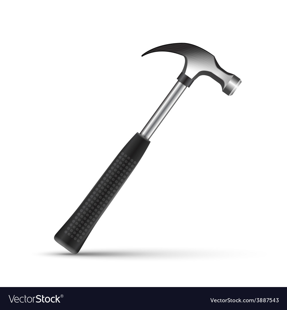 Iron hammer isolated on a white background vector | Price: 1 Credit (USD $1)