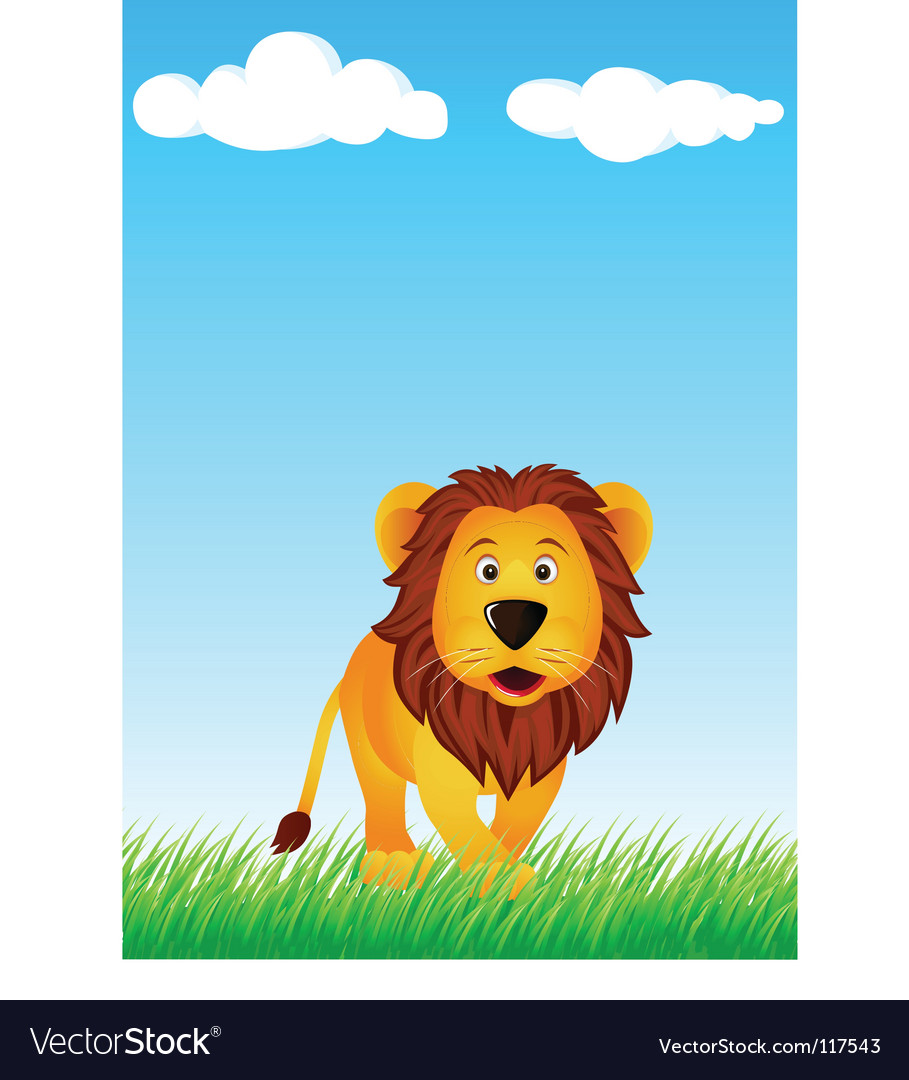 Lion in the wild vector | Price: 1 Credit (USD $1)