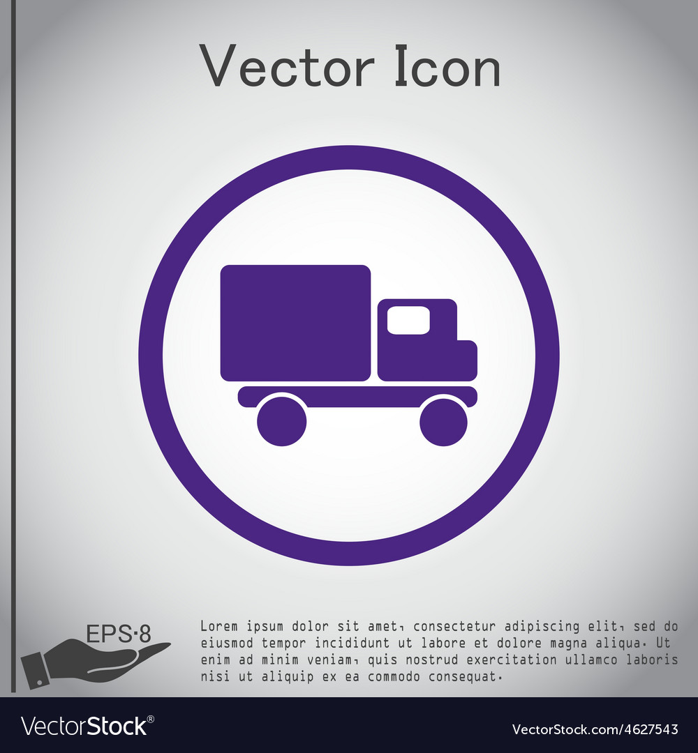 Truck logistic icon symbol icon laden truck vector | Price: 1 Credit (USD $1)