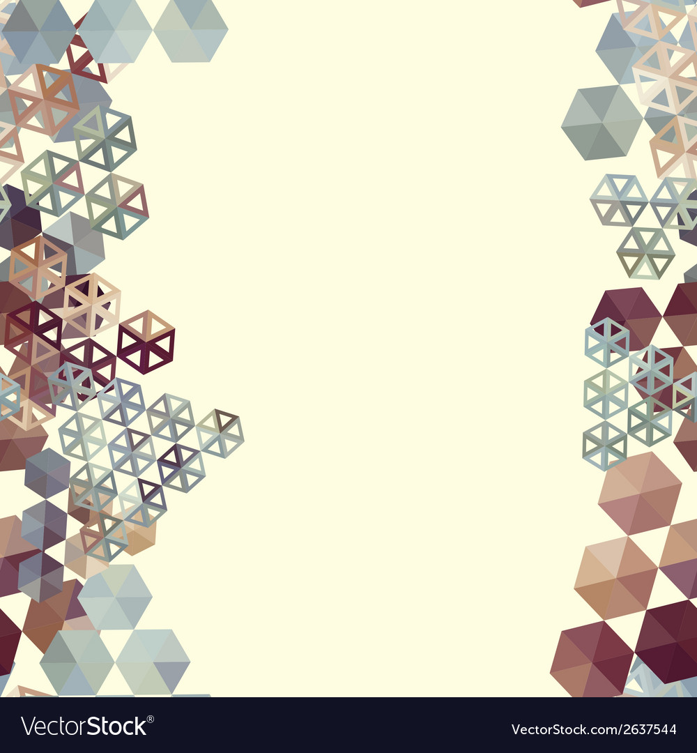 Abstract background border with hexagons vector | Price: 1 Credit (USD $1)