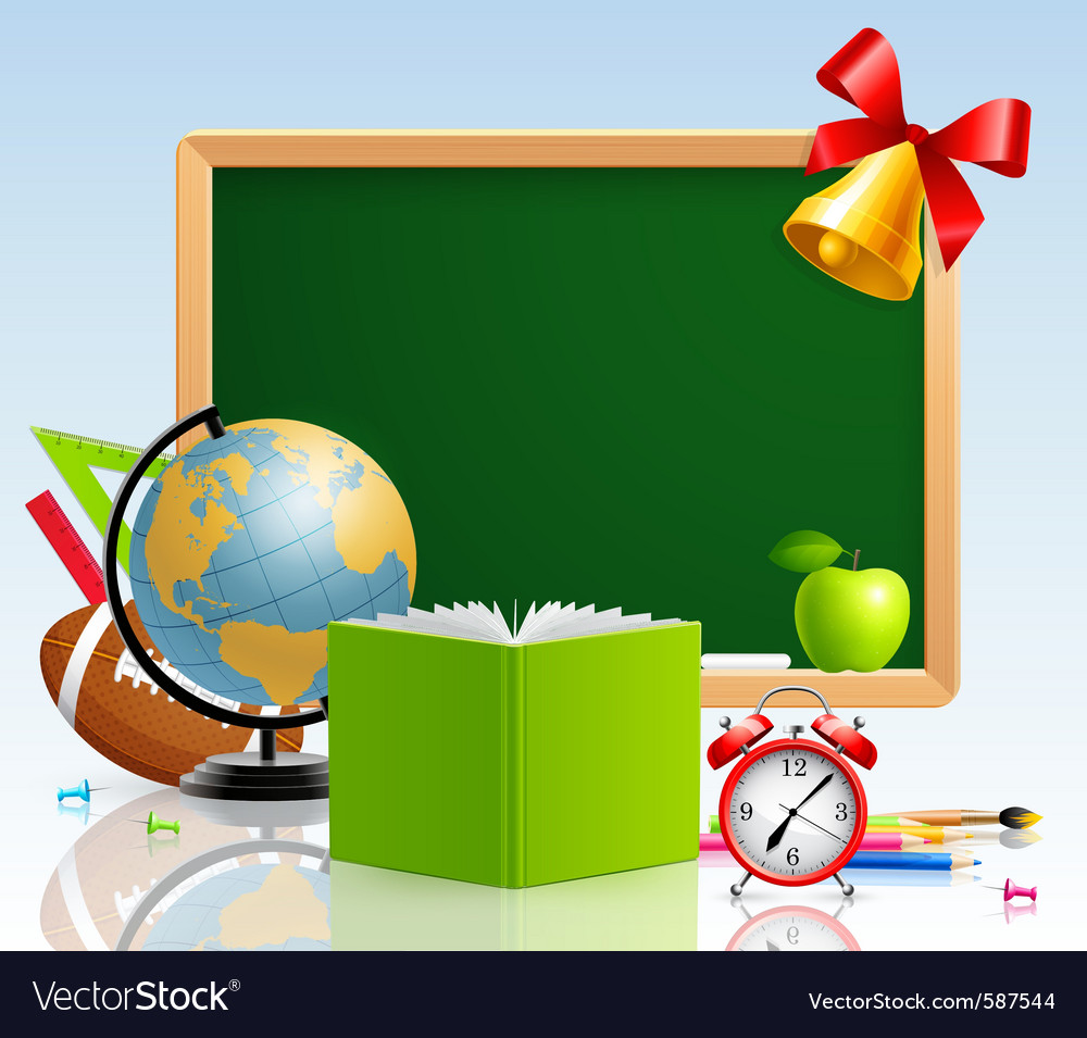 Back to school with stationery vector | Price: 3 Credit (USD $3)