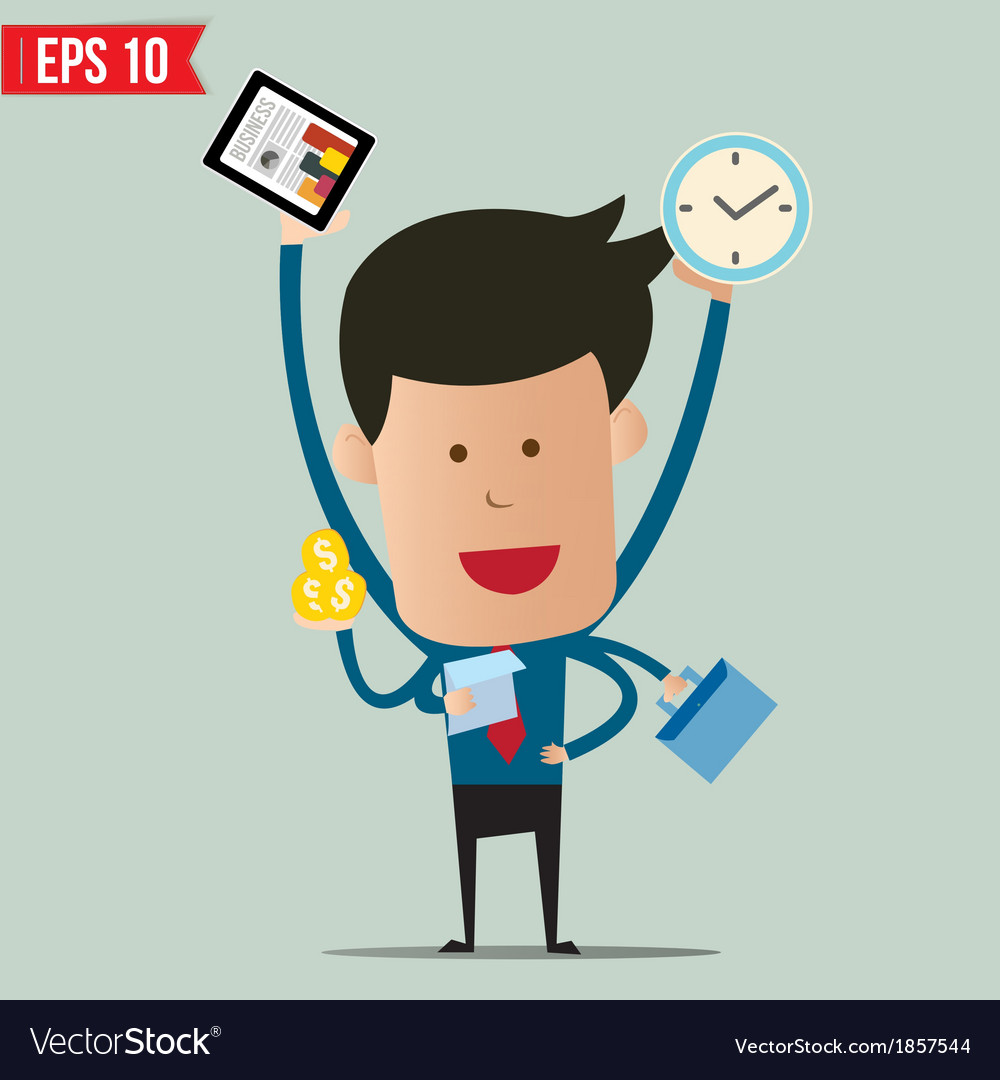 Busy business man vector | Price: 1 Credit (USD $1)