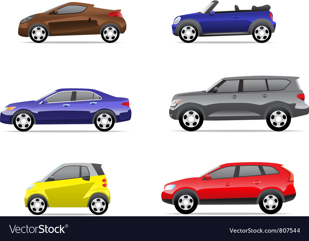 Cars icons set part 2 vector | Price: 3 Credit (USD $3)