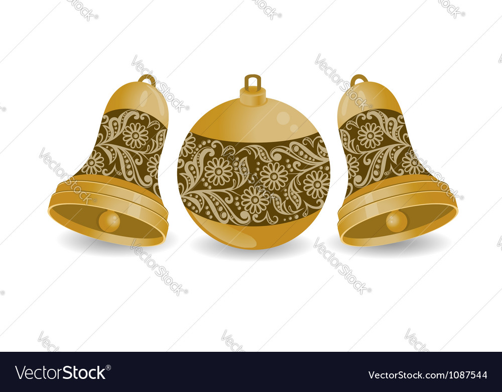 Christmas balls with isolation on a white backgrou vector | Price: 1 Credit (USD $1)