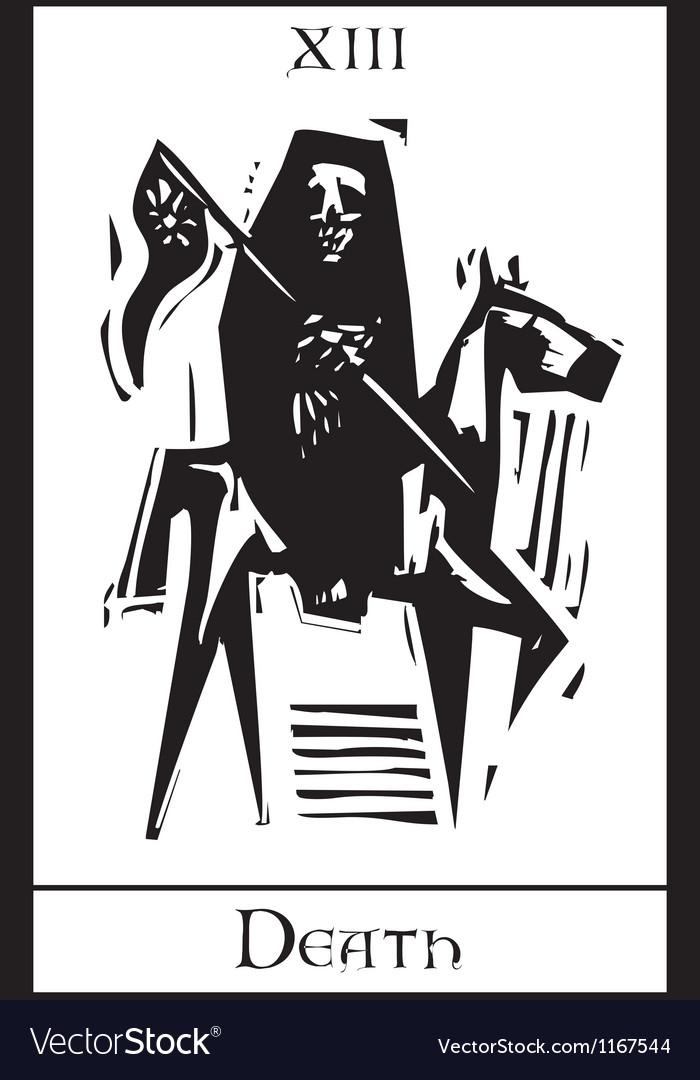 Death tarot card vector | Price: 1 Credit (USD $1)