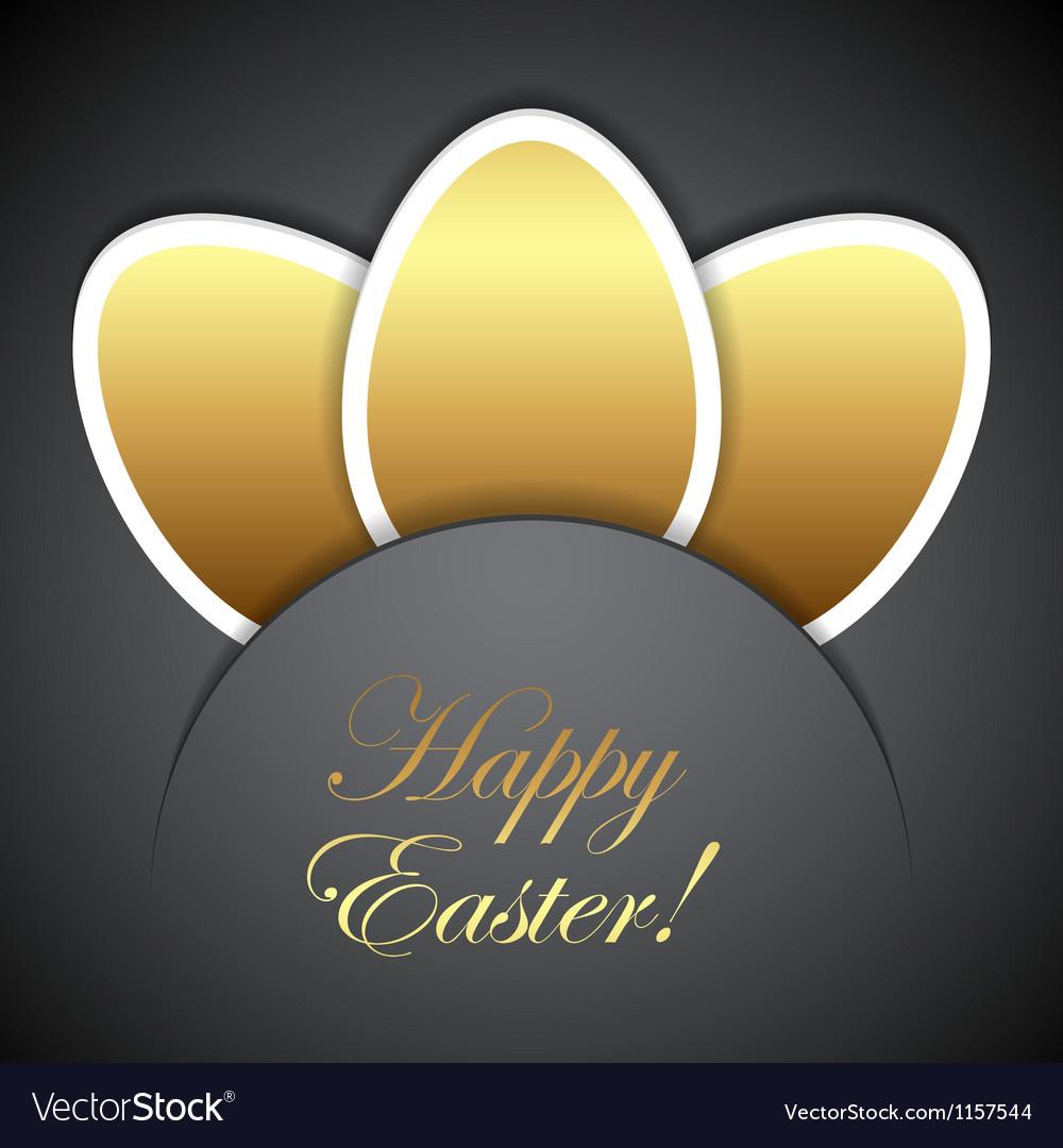 Easter golden eggs vector | Price: 1 Credit (USD $1)