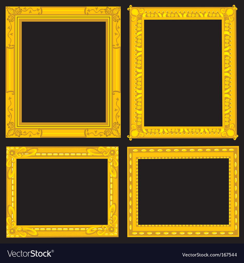 Gold picture frames vector | Price: 1 Credit (USD $1)