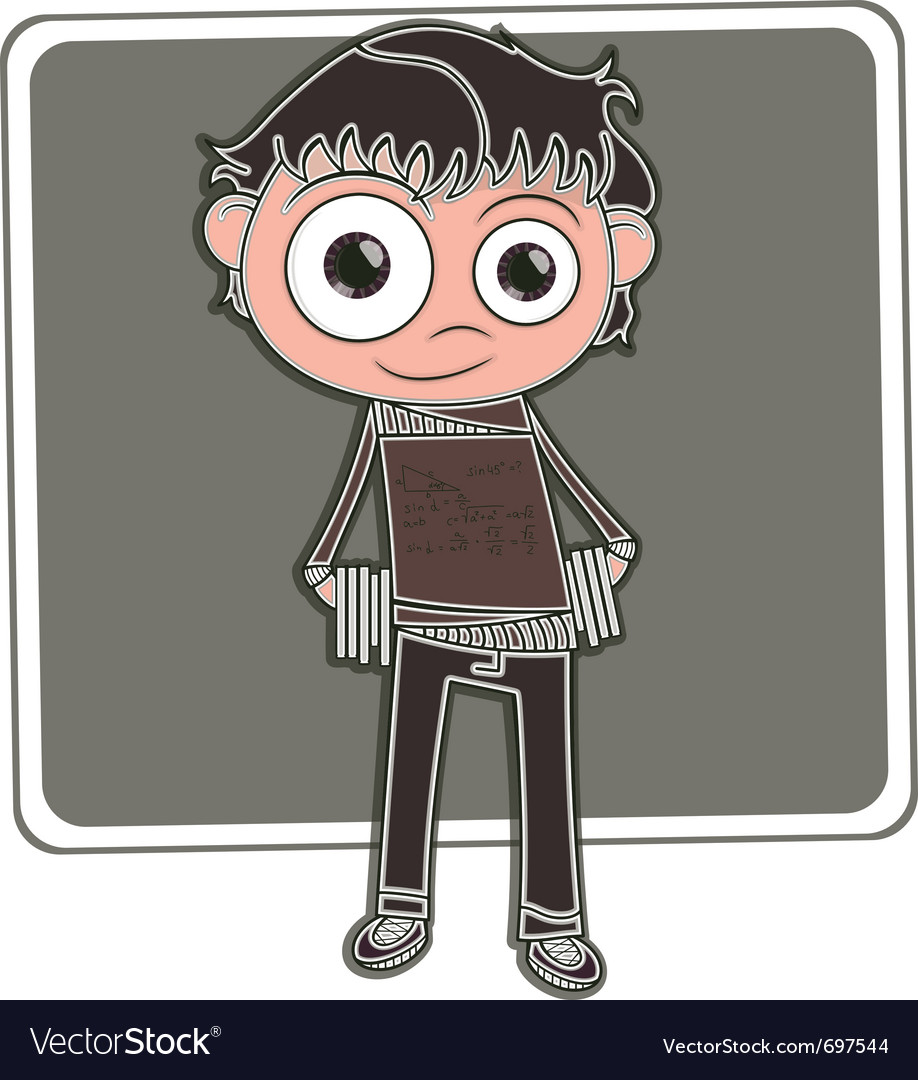 Happy little boy vector | Price: 1 Credit (USD $1)