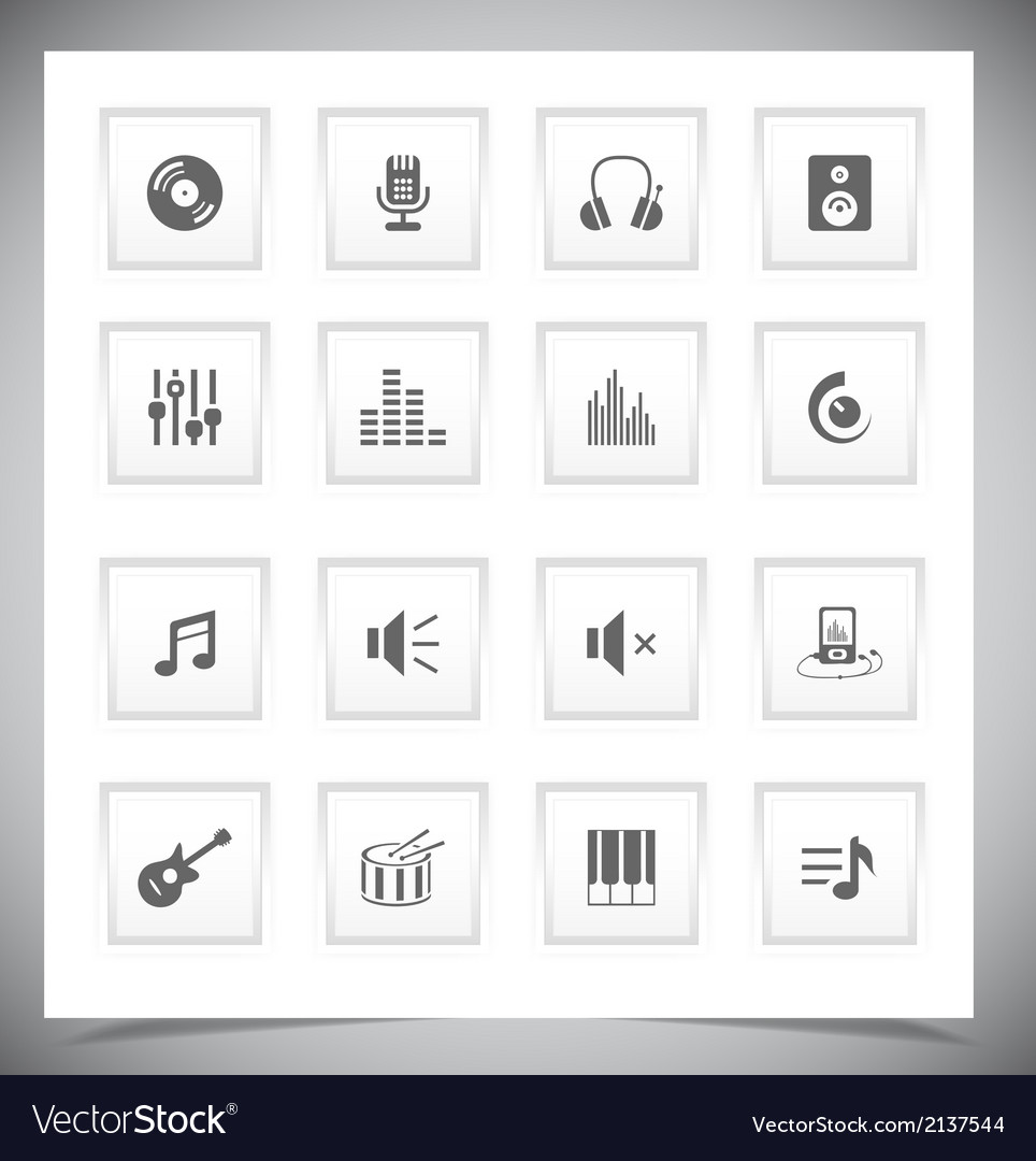 Music buttons vector   Price: 1 Credit (USD $1)
