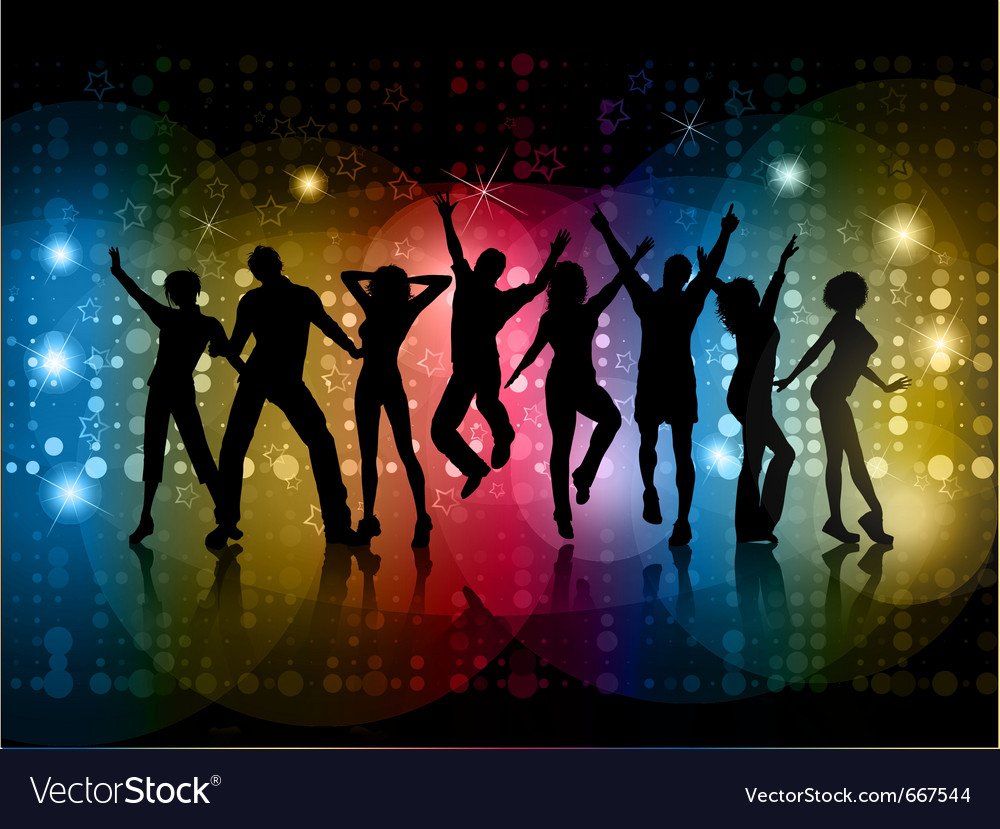 People dancing vector | Price: 1 Credit (USD $1)