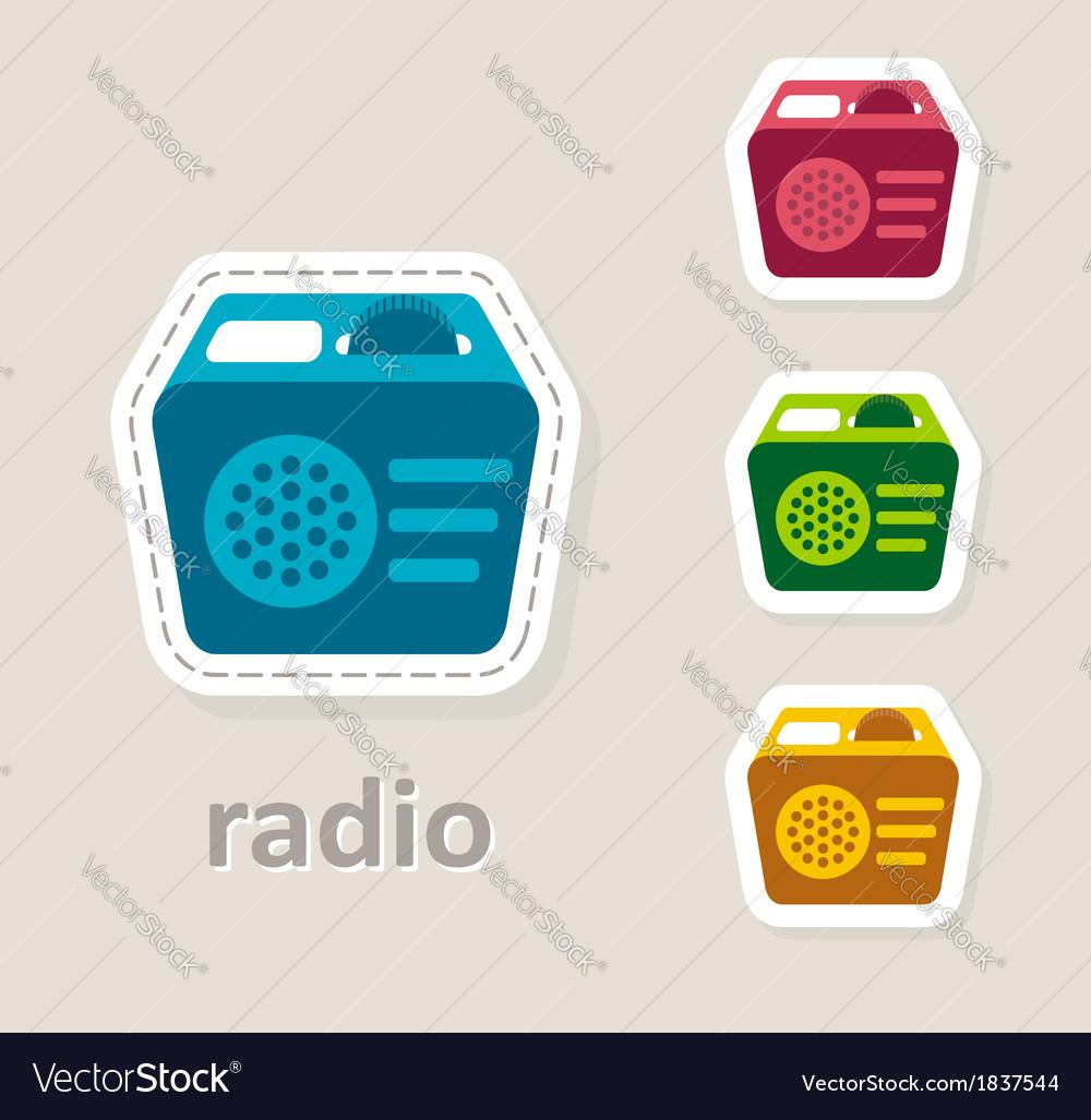Radio receiver icon vector | Price: 1 Credit (USD $1)