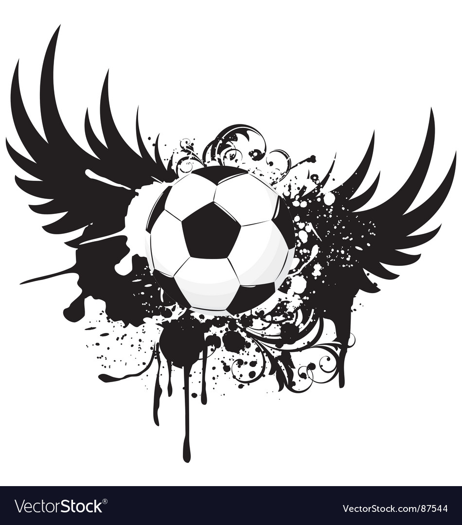Soccer grunge emblem vector | Price: 1 Credit (USD $1)
