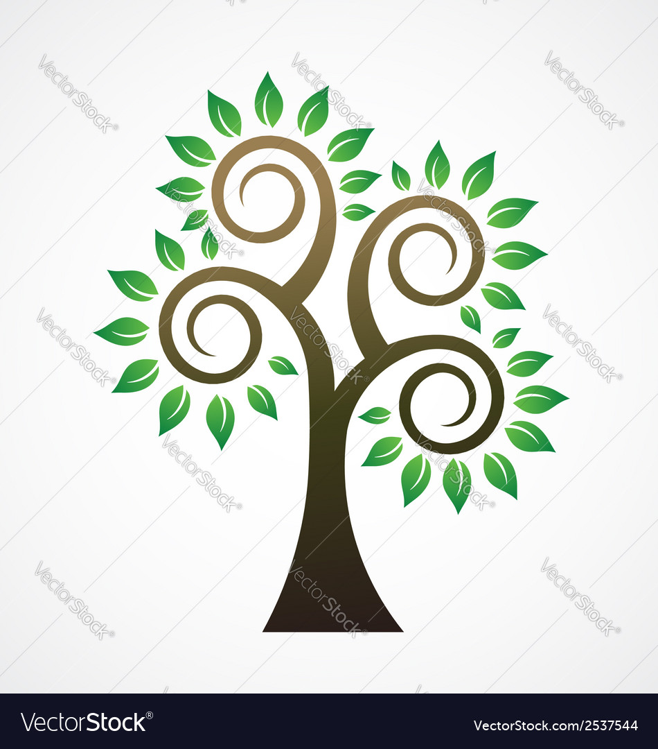 Spiral tree image ilogo vector | Price: 1 Credit (USD $1)