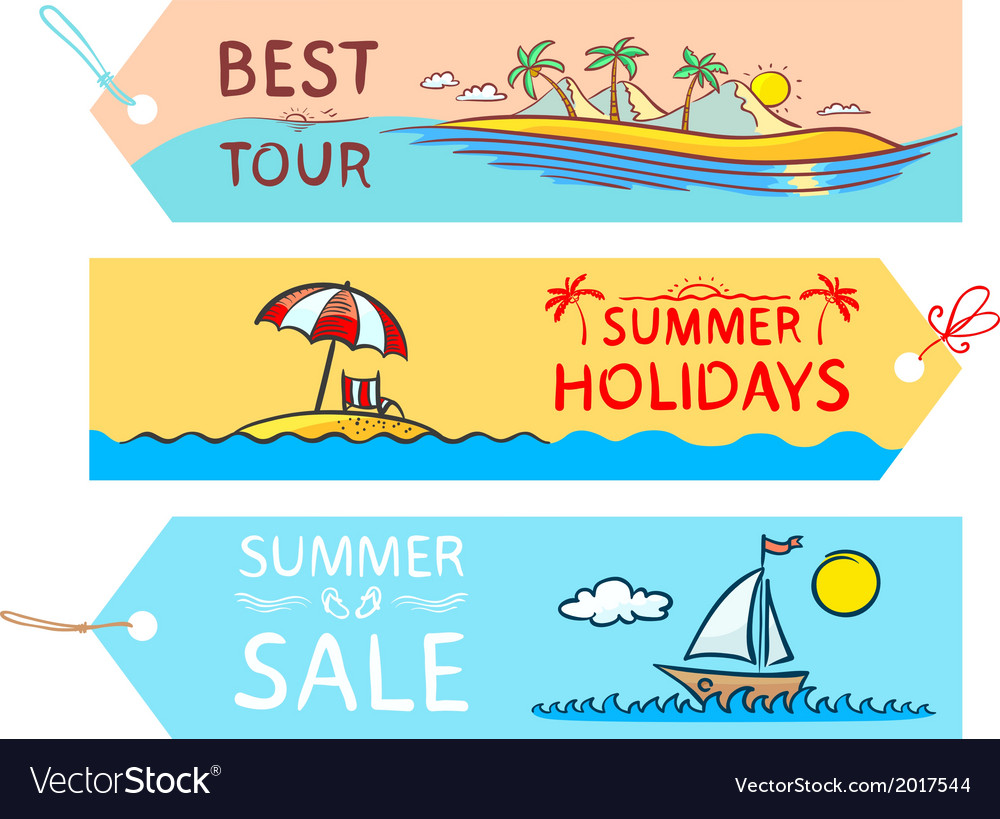 Summer labels vector | Price: 1 Credit (USD $1)