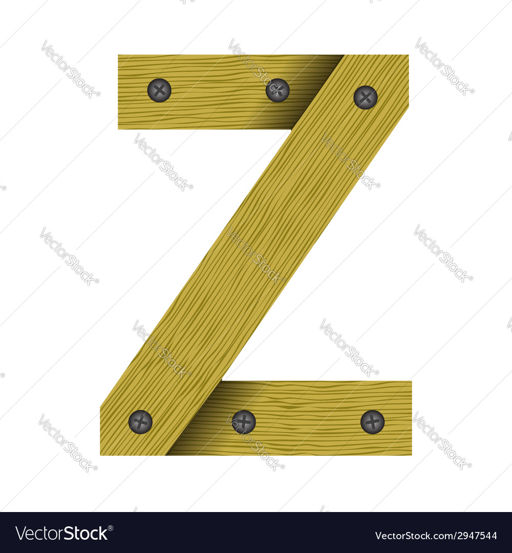 Wood letter z vector | Price: 1 Credit (USD $1)