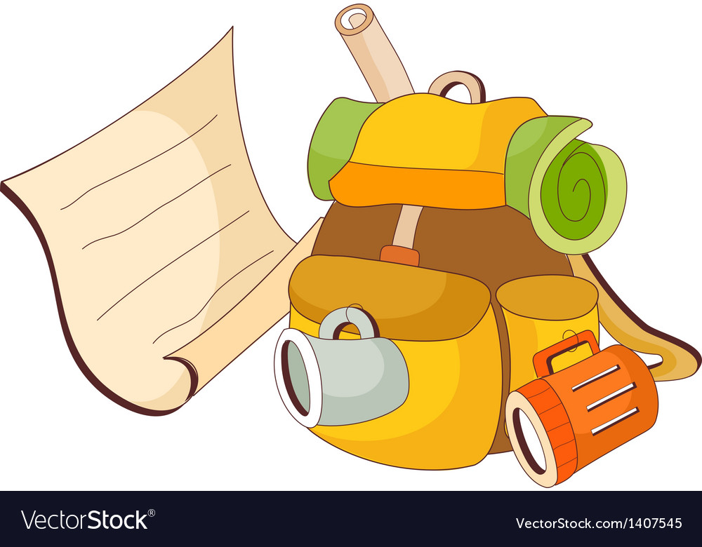 A view of backpack vector | Price: 1 Credit (USD $1)