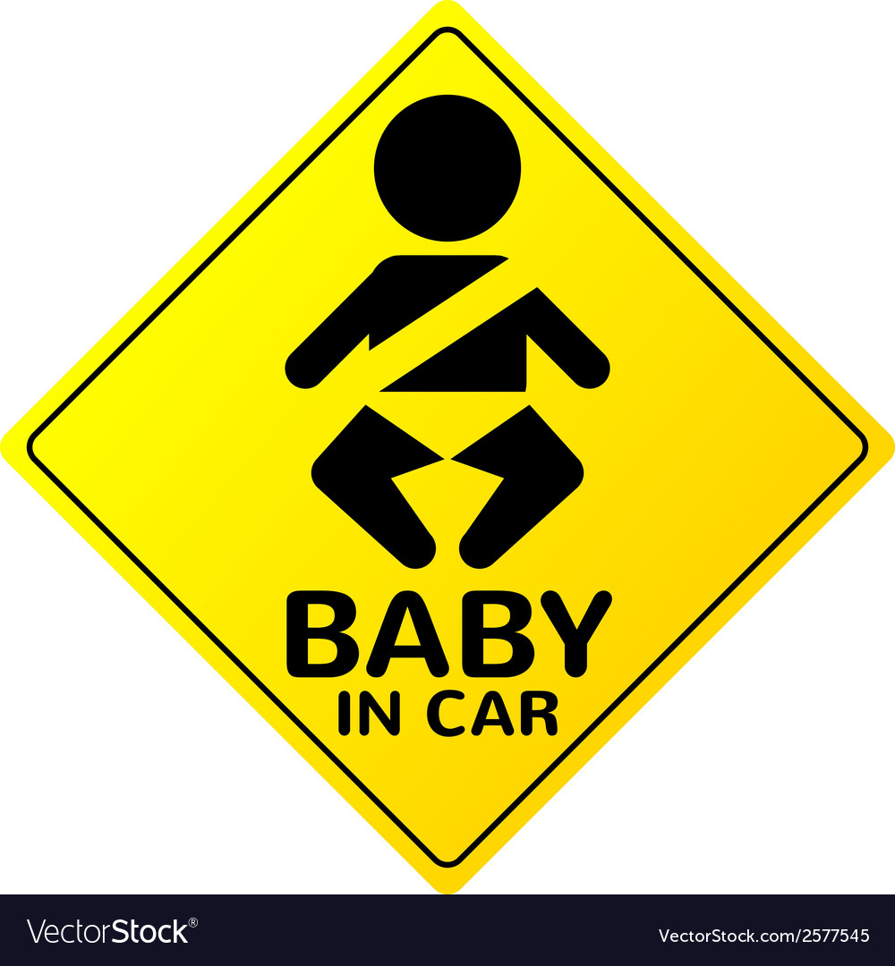 Baby in car sign vector | Price: 1 Credit (USD $1)