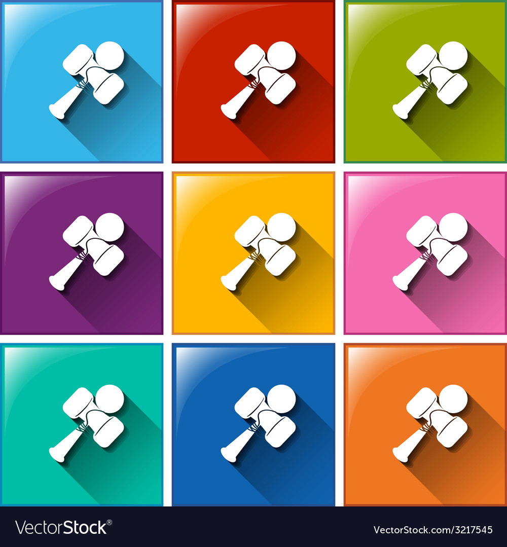 Buttons with toys vector | Price: 1 Credit (USD $1)