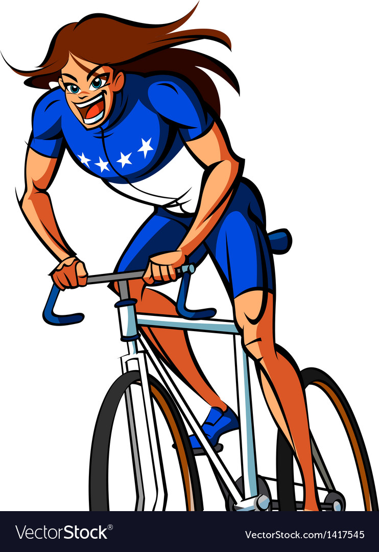 Close-up of woman riding bicycle vector | Price: 1 Credit (USD $1)