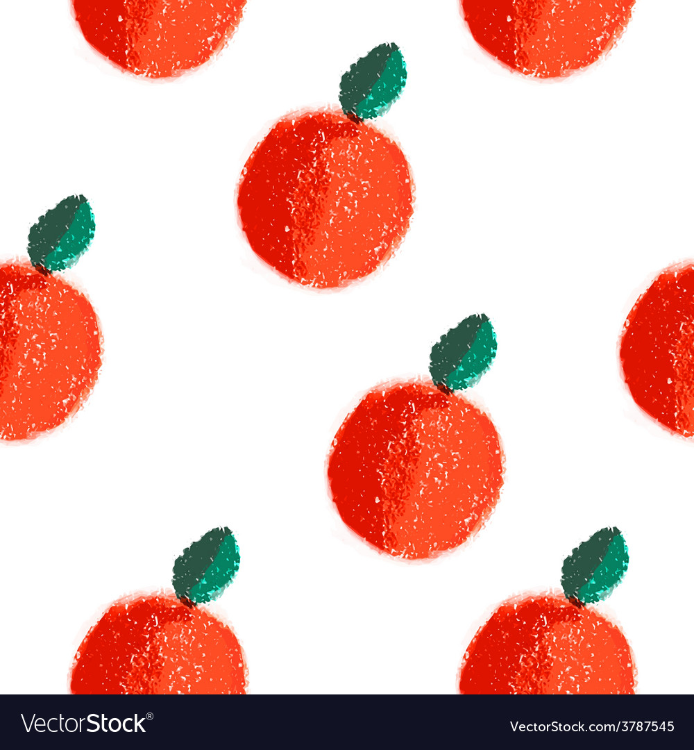 Fruit orange seamless watercolor pattern vector | Price: 1 Credit (USD $1)