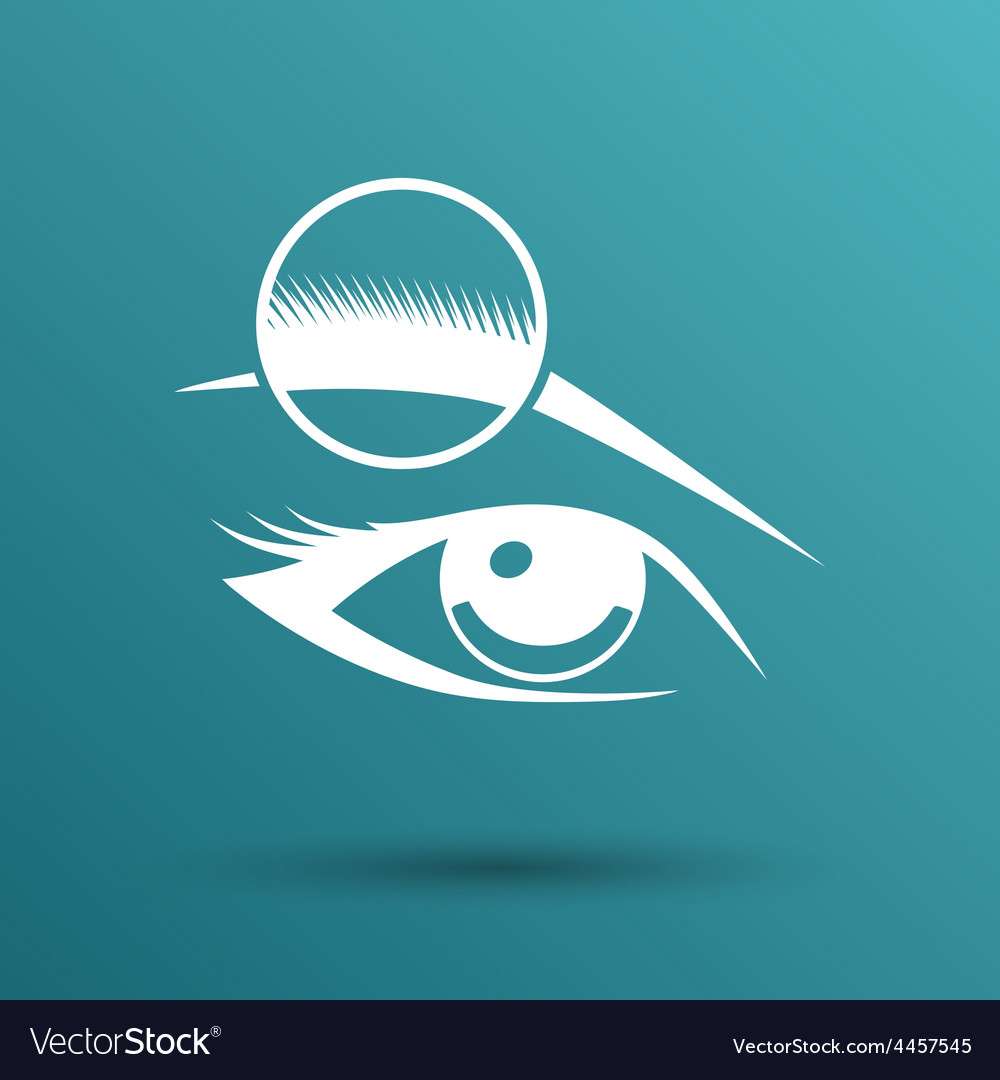 Human eye isolated eye eyebrow human female makeup vector | Price: 1 Credit (USD $1)