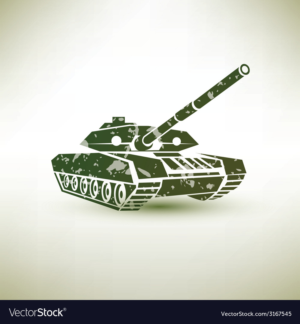 Military tank symbol vector | Price: 1 Credit (USD $1)