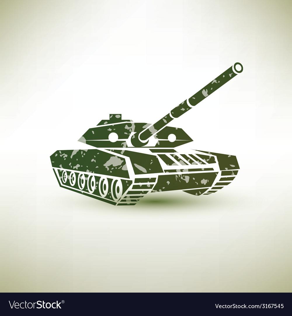 Military tank symbol vector | Price: 1 Credit (USD $1)