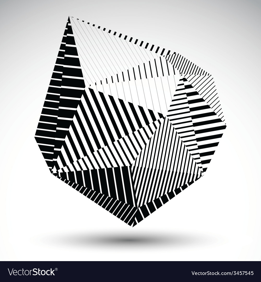 Multifaceted eps8 asymmetric contrast figure with vector | Price: 1 Credit (USD $1)