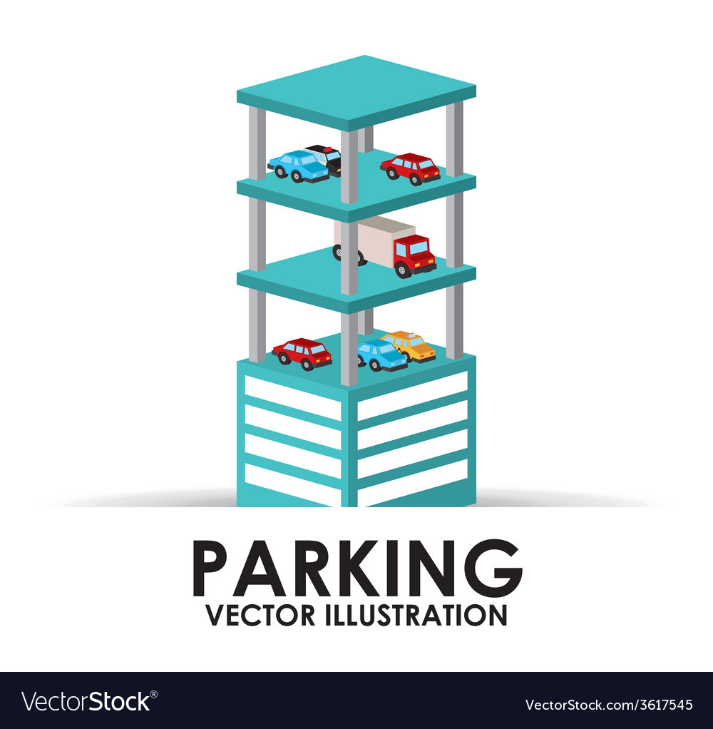 Parking building design vector | Price: 1 Credit (USD $1)
