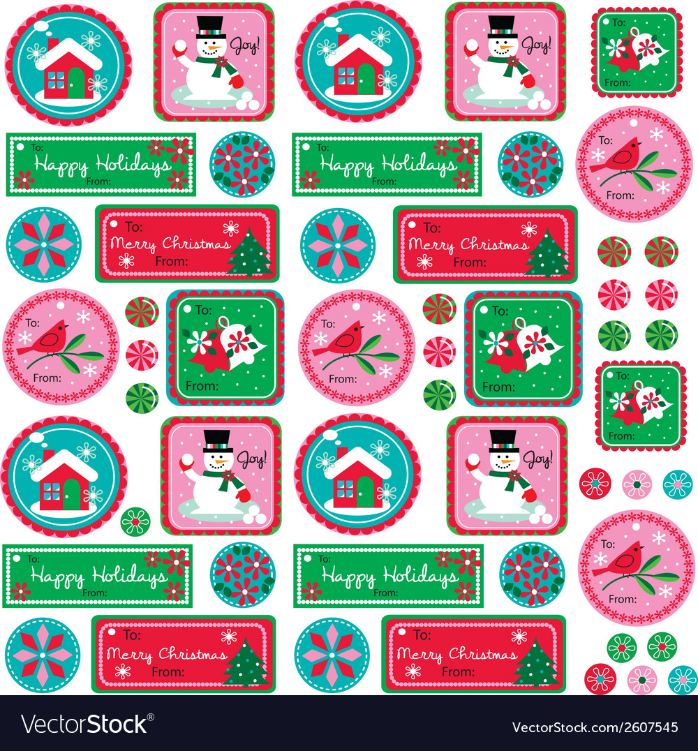 Xmas tags vector | Price: 1 Credit (USD $1)