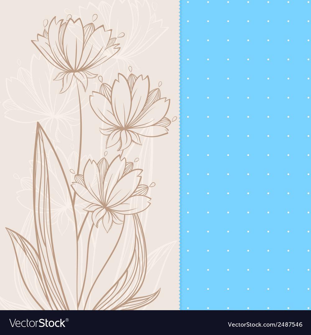 Beige flowers vector | Price: 1 Credit (USD $1)