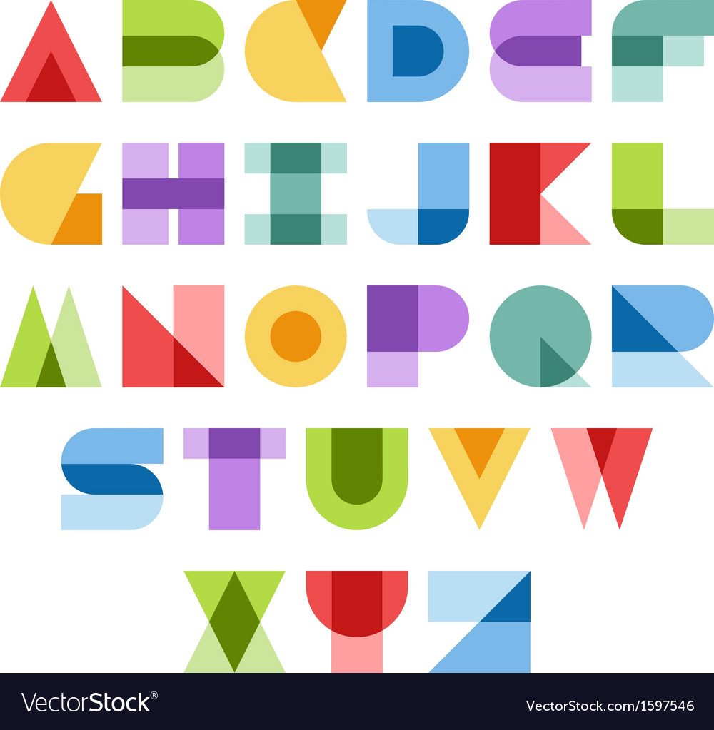 Colorful font vector | Price: 1 Credit (USD $1)