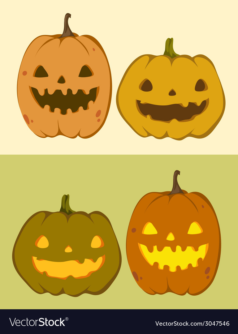 Cute pumpkin jack-o-lantern vector | Price: 1 Credit (USD $1)