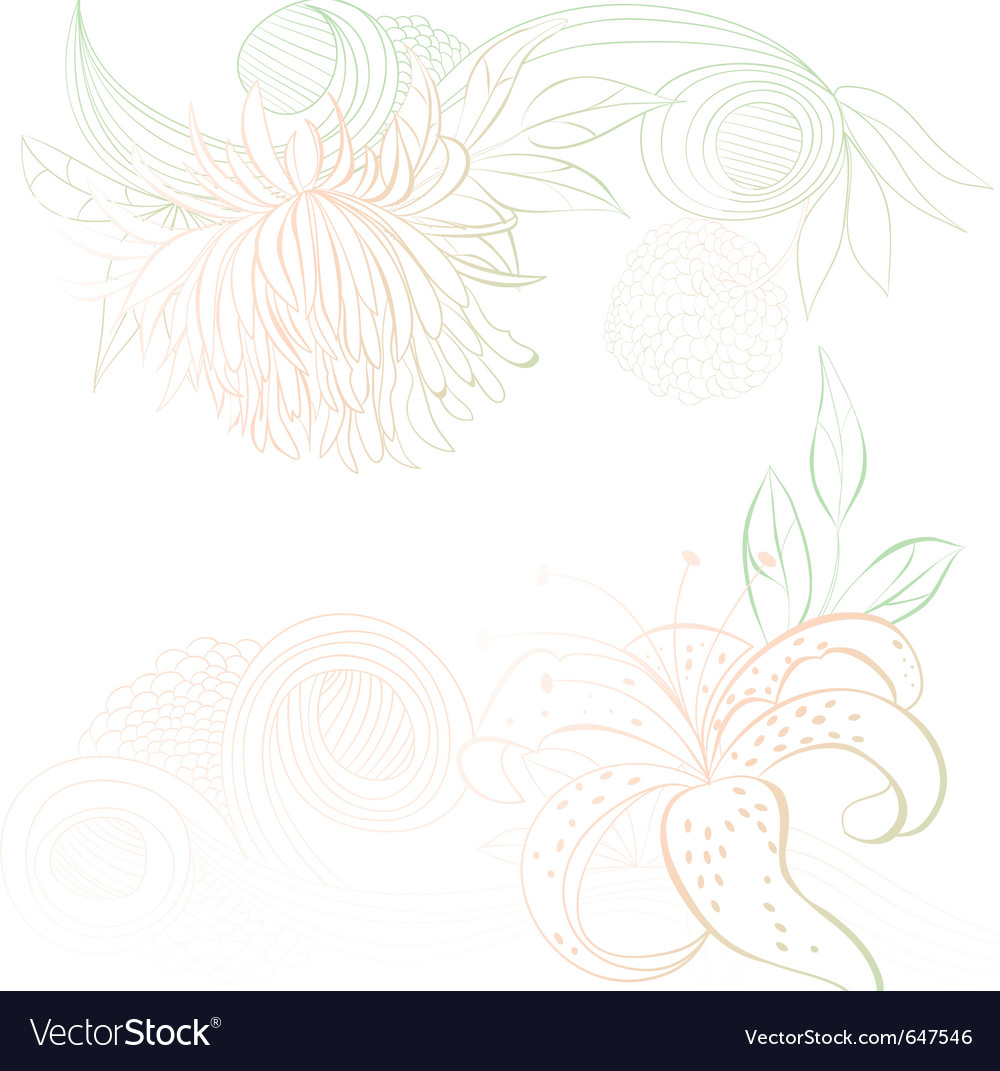 Decorative background with stylized floral element vector   Price: 1 Credit (USD $1)