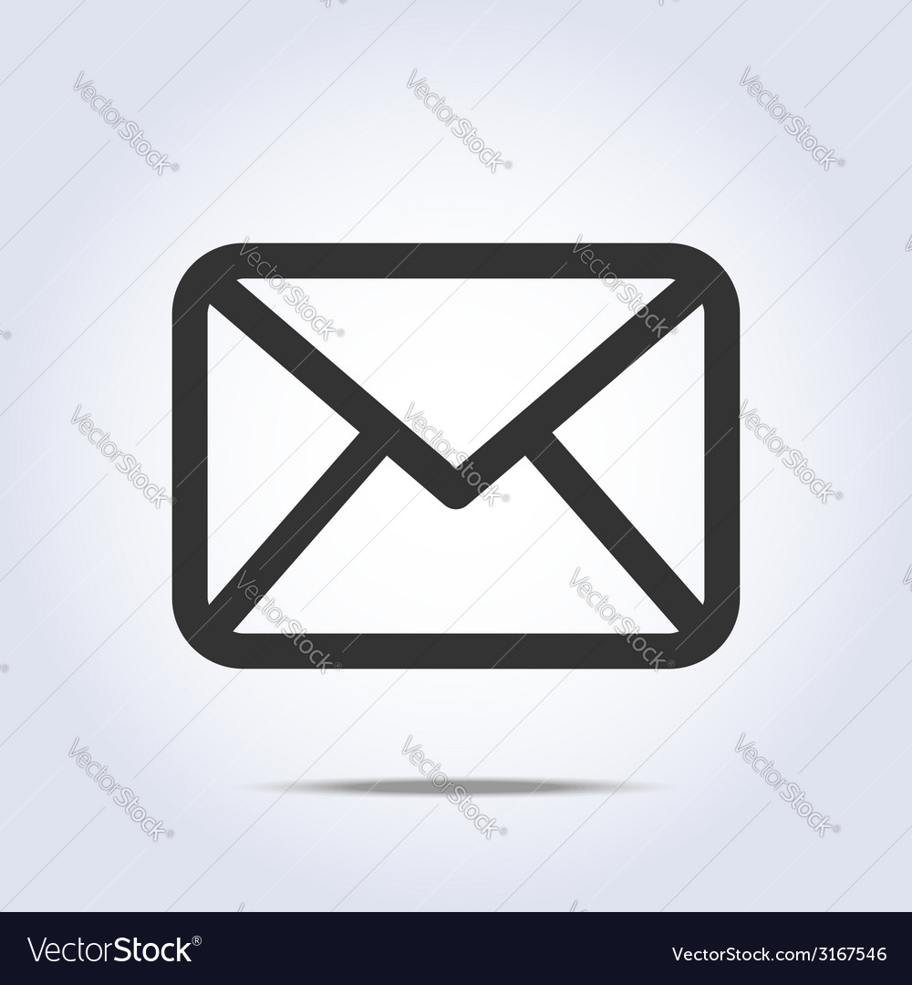 Envelope icon gray colors vector | Price: 1 Credit (USD $1)