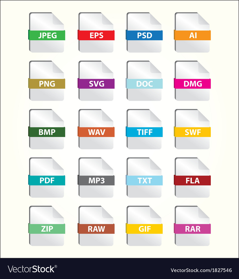 File icon set vector | Price: 1 Credit (USD $1)