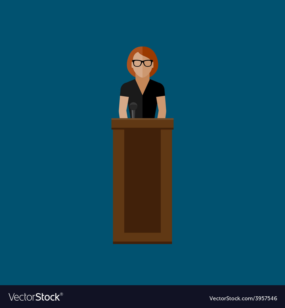 Flat of a speaker politician vector | Price: 1 Credit (USD $1)
