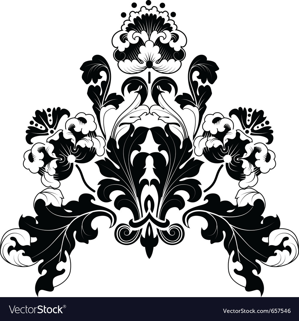 Floral antique designs vector | Price: 1 Credit (USD $1)