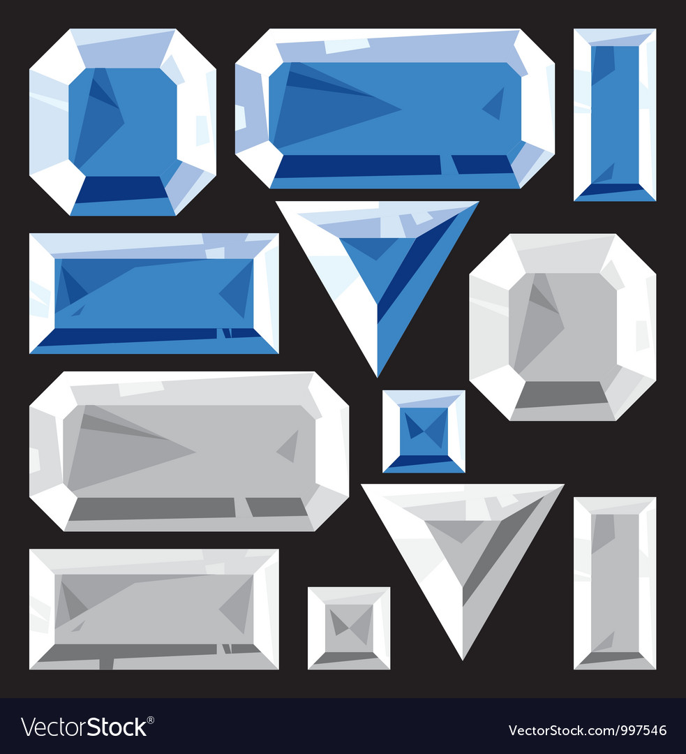 Gems of sapphire and diamond vector | Price: 1 Credit (USD $1)