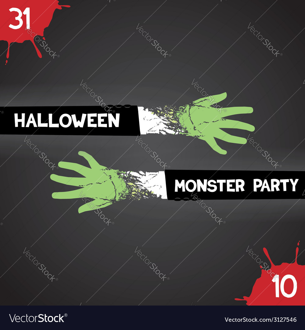 Halloween monster party vector | Price: 1 Credit (USD $1)