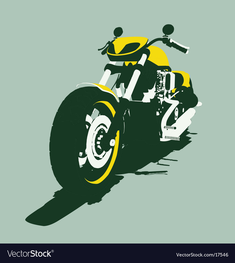 Harleycustom bike back view vector | Price: 1 Credit (USD $1)