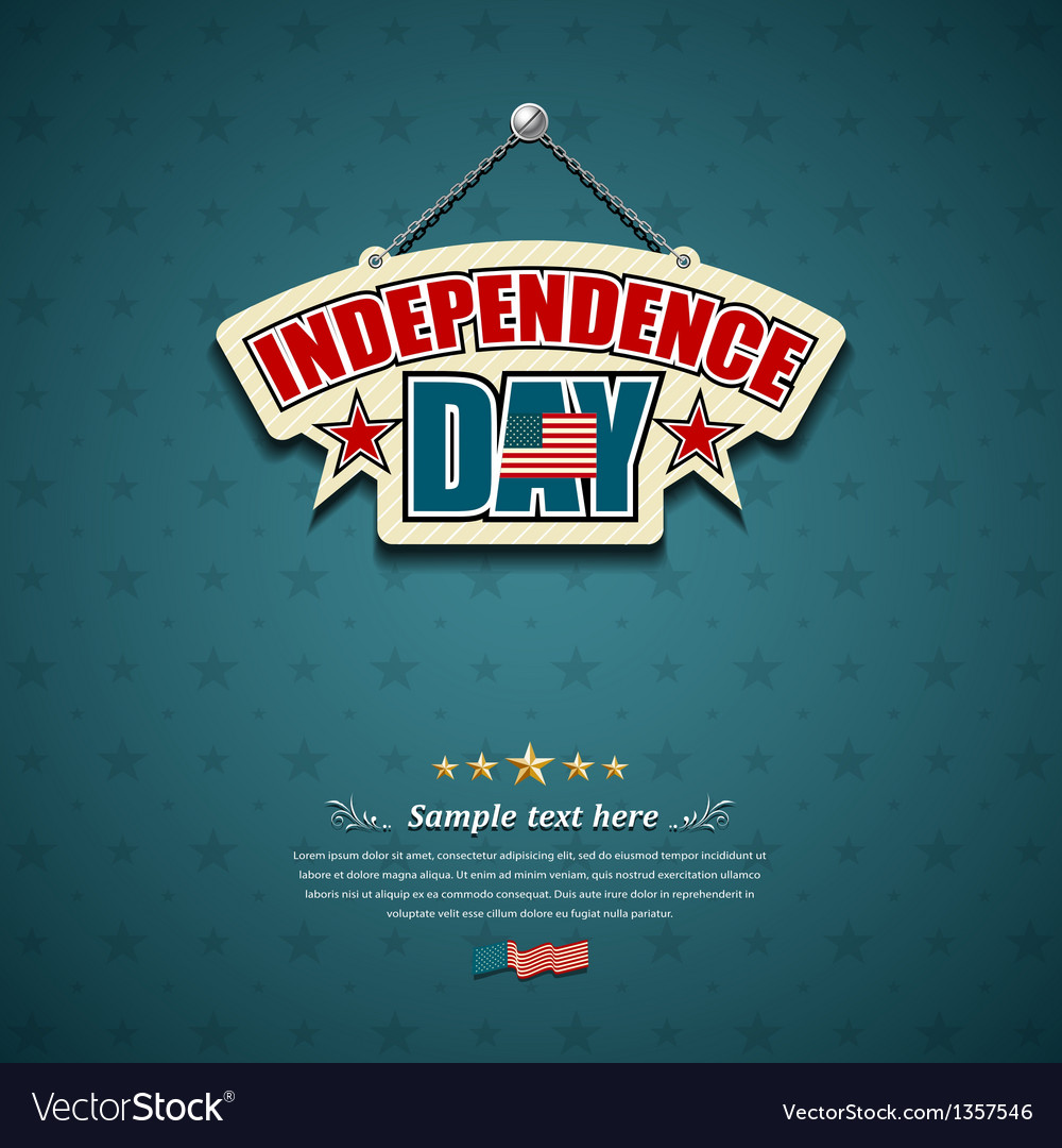Independence day american signs background vector | Price: 1 Credit (USD $1)
