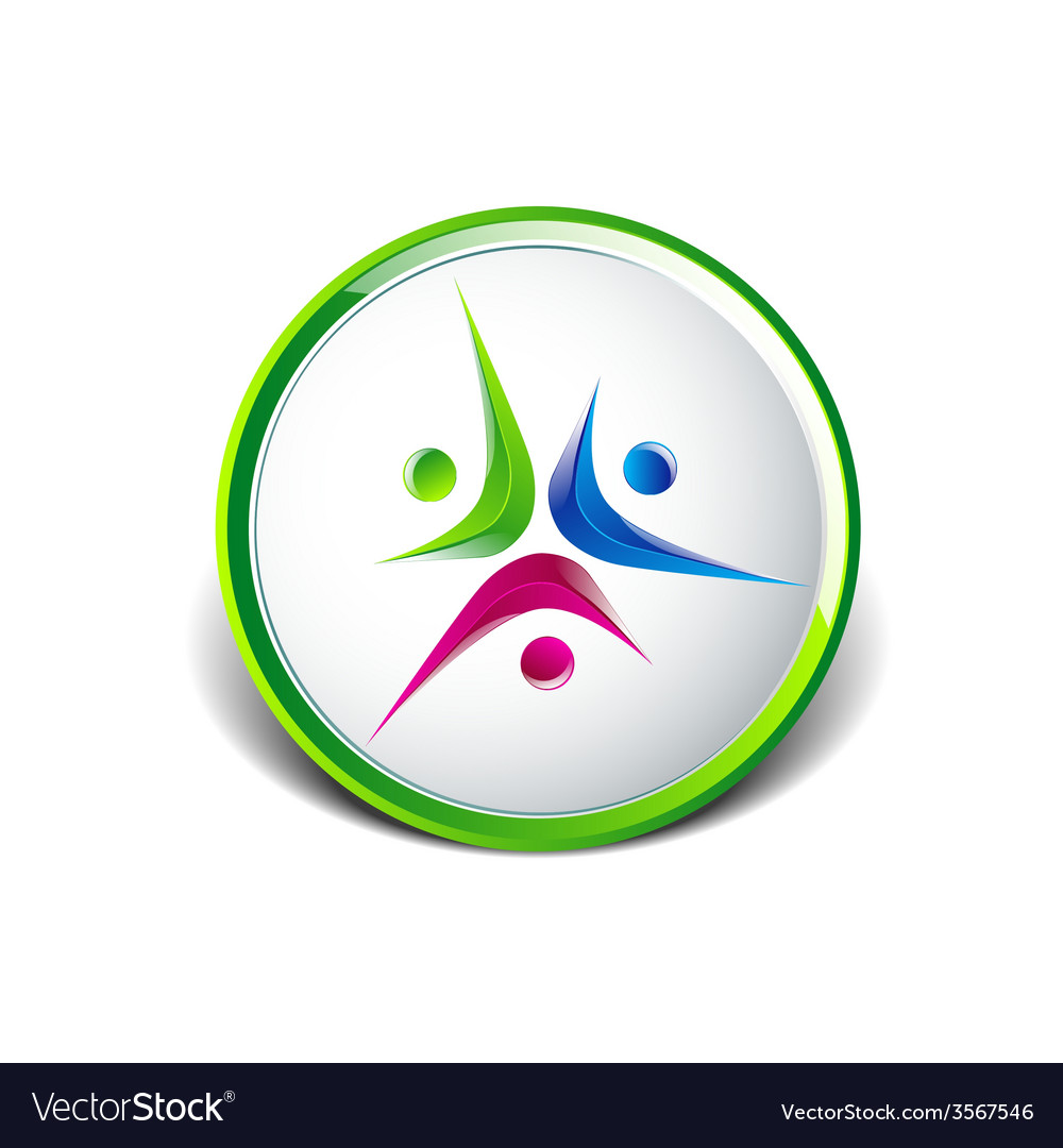 Logo element abstract people icon design vector | Price: 1 Credit (USD $1)