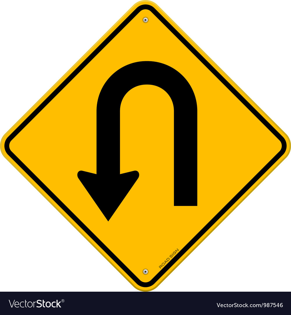 U-turn roadsign vector | Price: 1 Credit (USD $1)