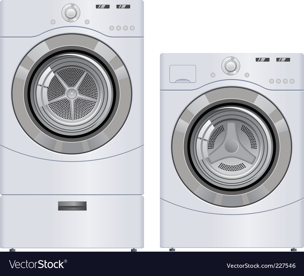 Wash machine and dryer vector | Price: 1 Credit (USD $1)