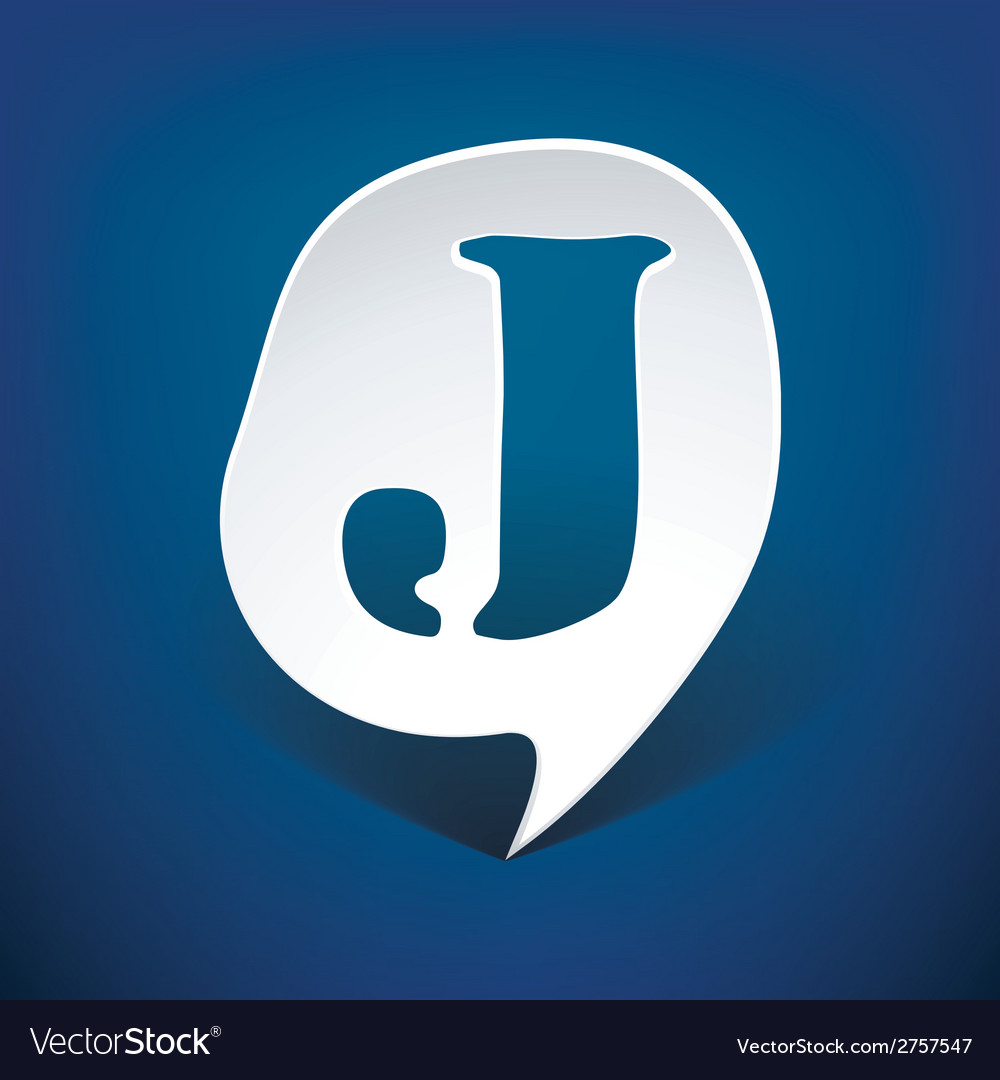 Bubble speech letter j vector | Price: 1 Credit (USD $1)
