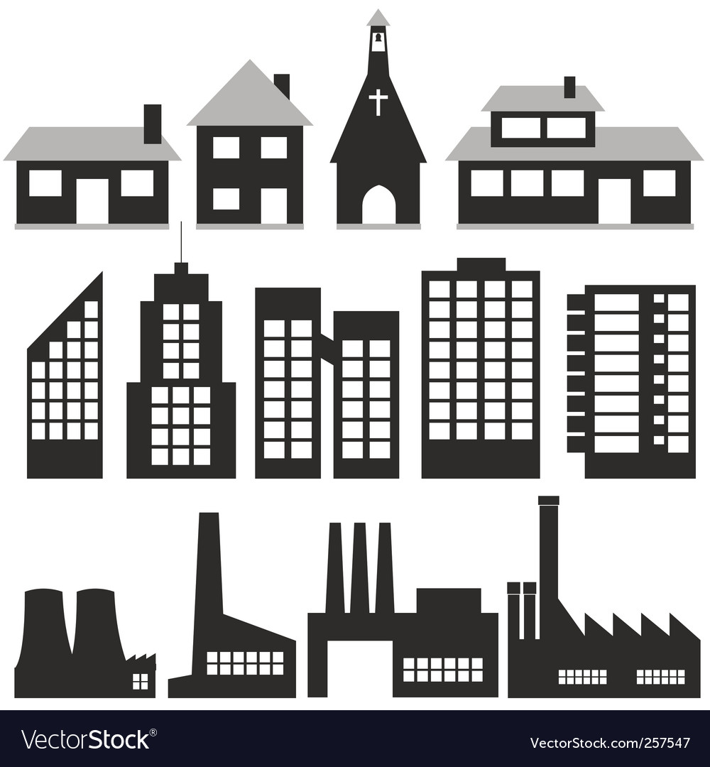 Buildings vector | Price: 1 Credit (USD $1)
